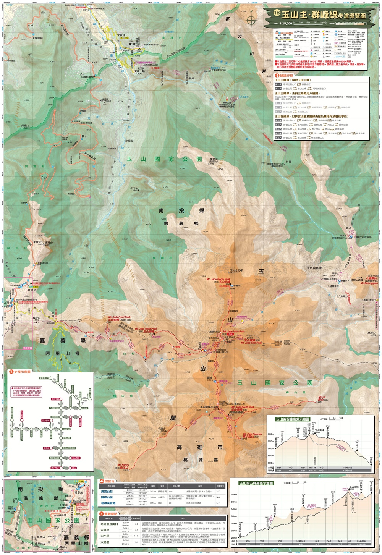 玉山群主峰地圖